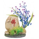Aquarium Stone with Plants Decor