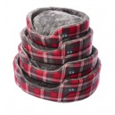 ESSENCE DOG BEDS RED CHECK