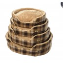 ESSENCE DOG BEDS BROWN CHECK